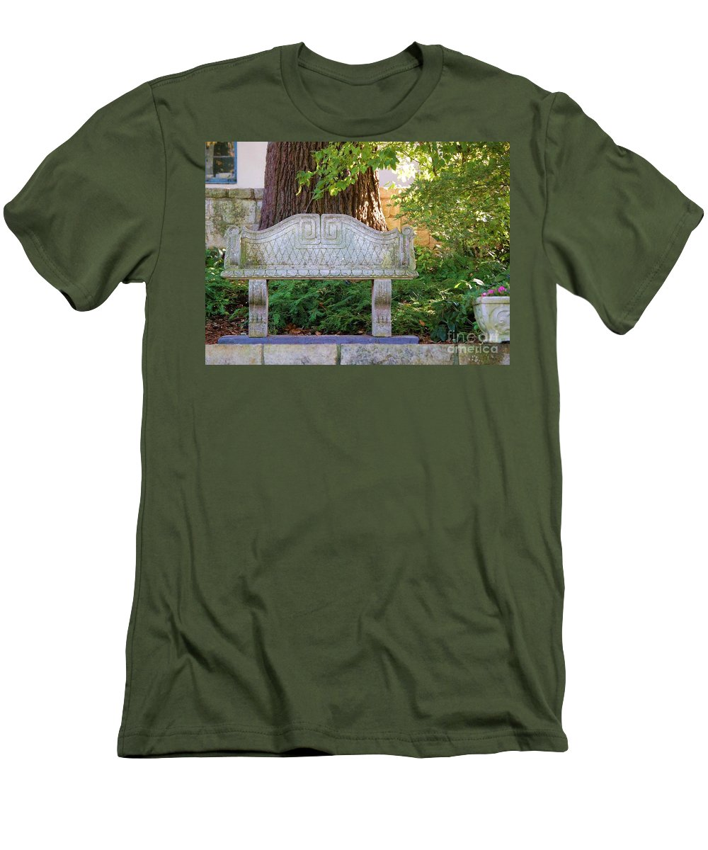 Bench Men's T-Shirt (Athletic Fit) featuring the photograph Take A Break by Debbi Granruth