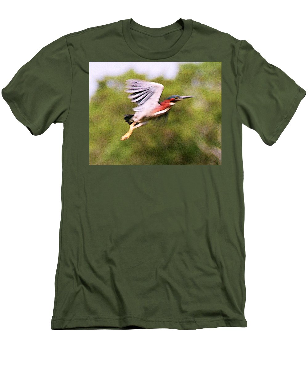 Wild Life Men's T-Shirt (Athletic Fit) featuring the digital art Take Off by Steve Karol