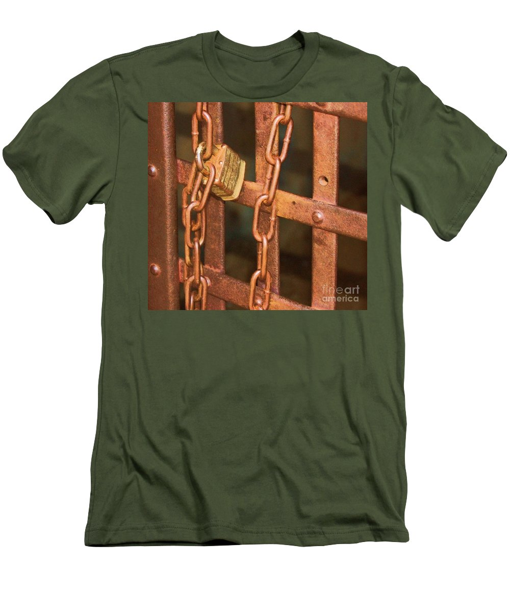 Metal Men's T-Shirt (Athletic Fit) featuring the photograph Tarnished Image by Debbi Granruth