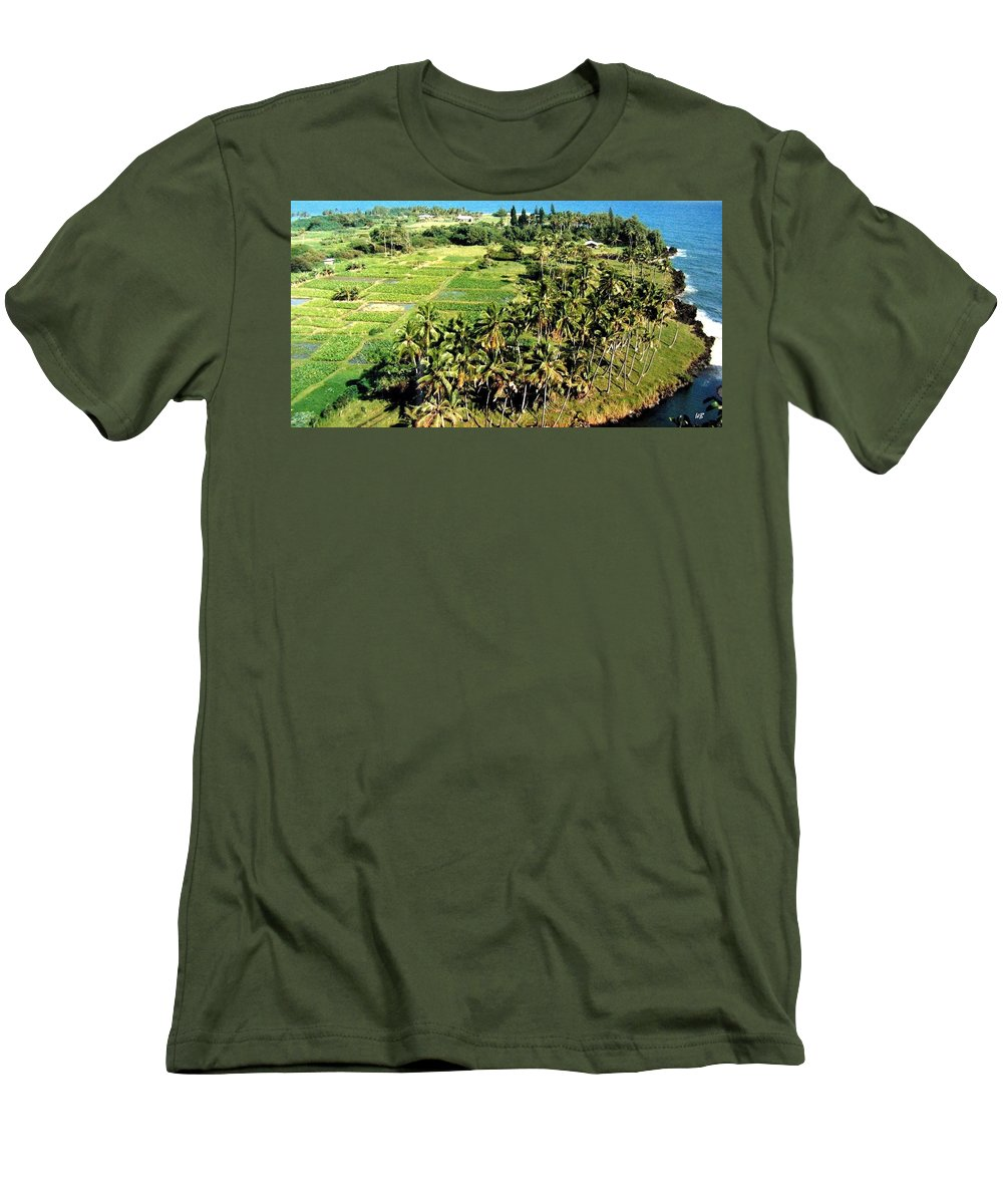 1986 Men's T-Shirt (Athletic Fit) featuring the photograph Taro Fields by Will Borden