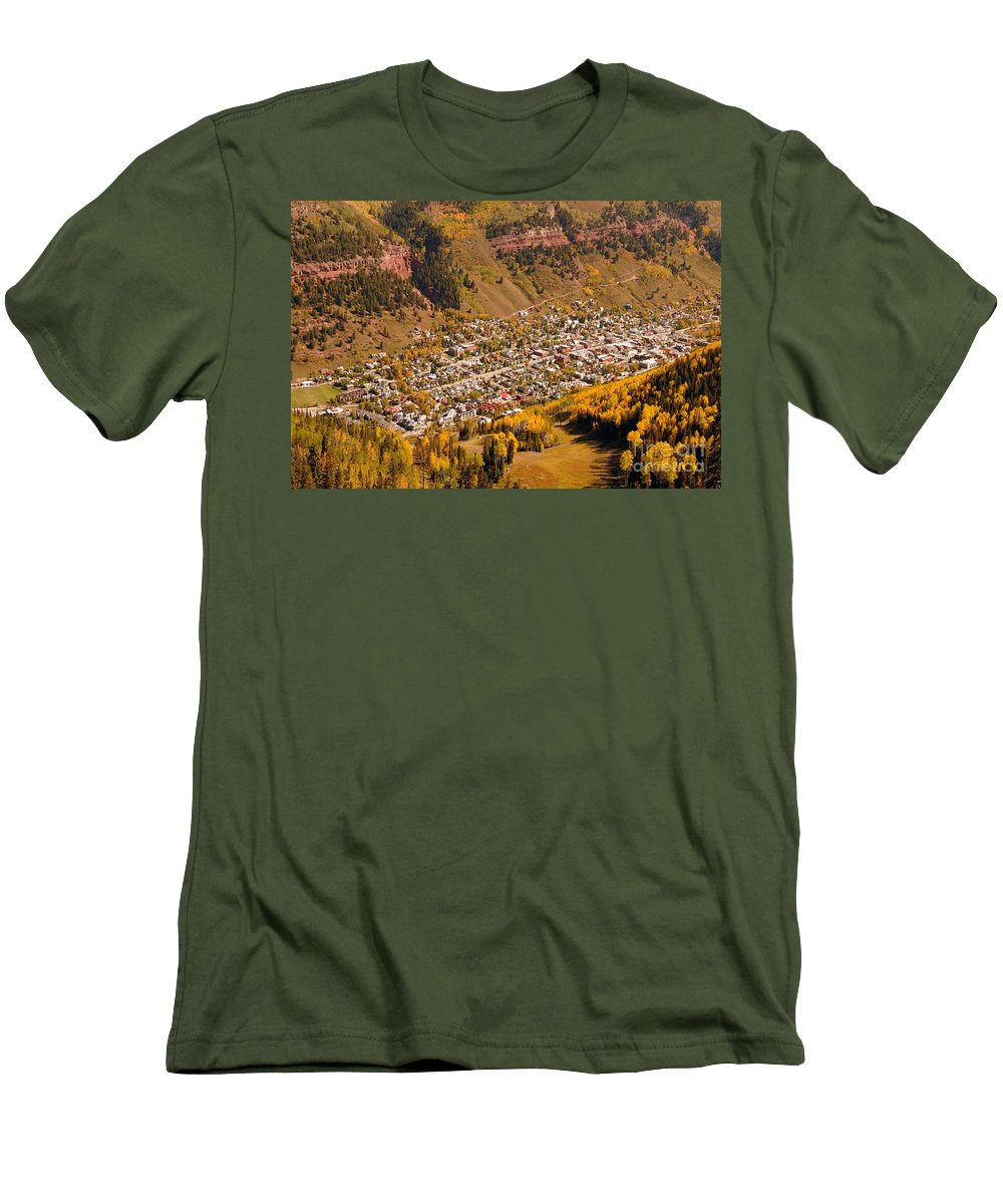 Telluride Colorado Men's T-Shirt (Athletic Fit) featuring the photograph Telluride by David Lee Thompson