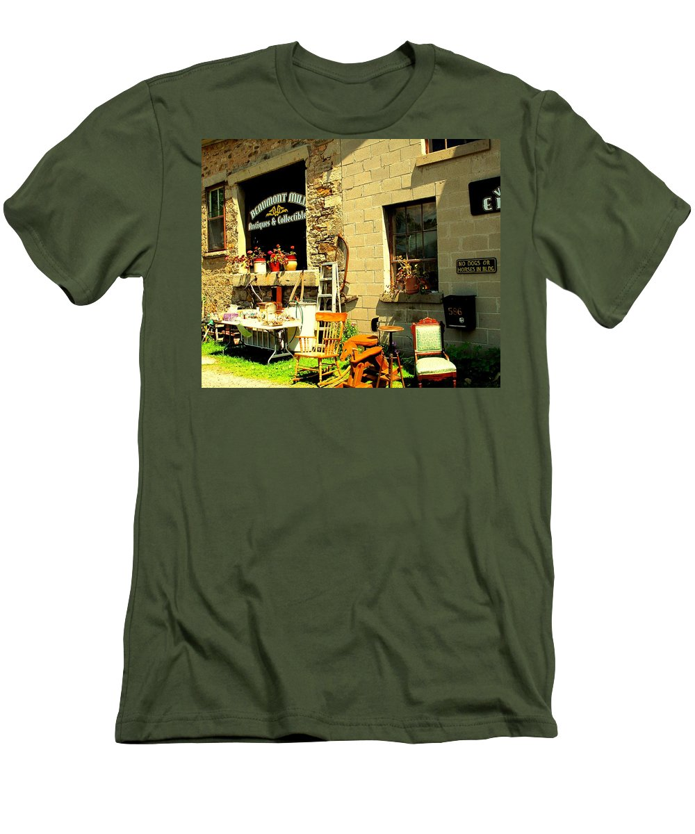 Antique Men's T-Shirt (Athletic Fit) featuring the photograph The Antique Store by Ian MacDonald