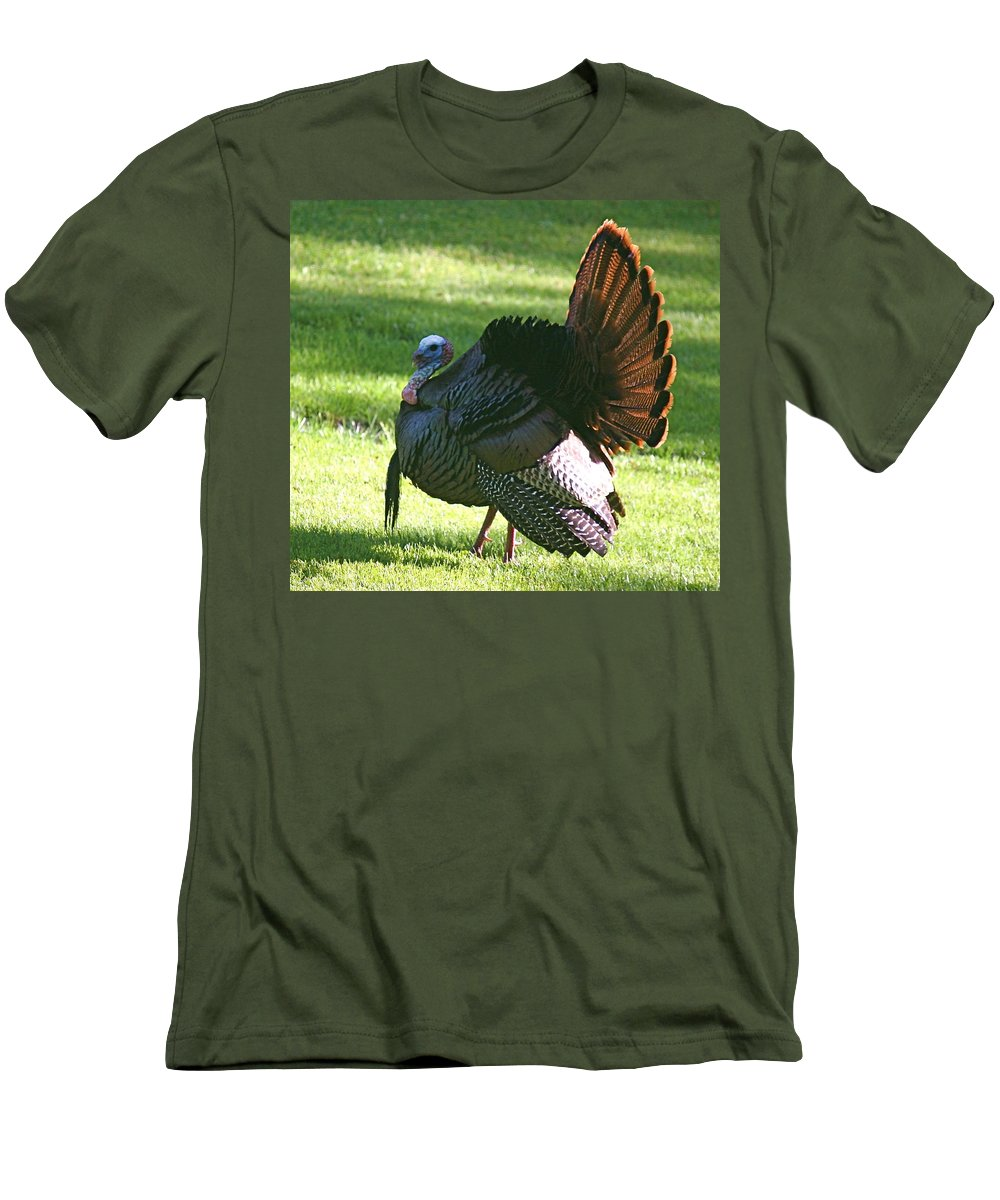Turkey Men's T-Shirt (Athletic Fit) featuring the photograph The Big Tom by Robert Pearson