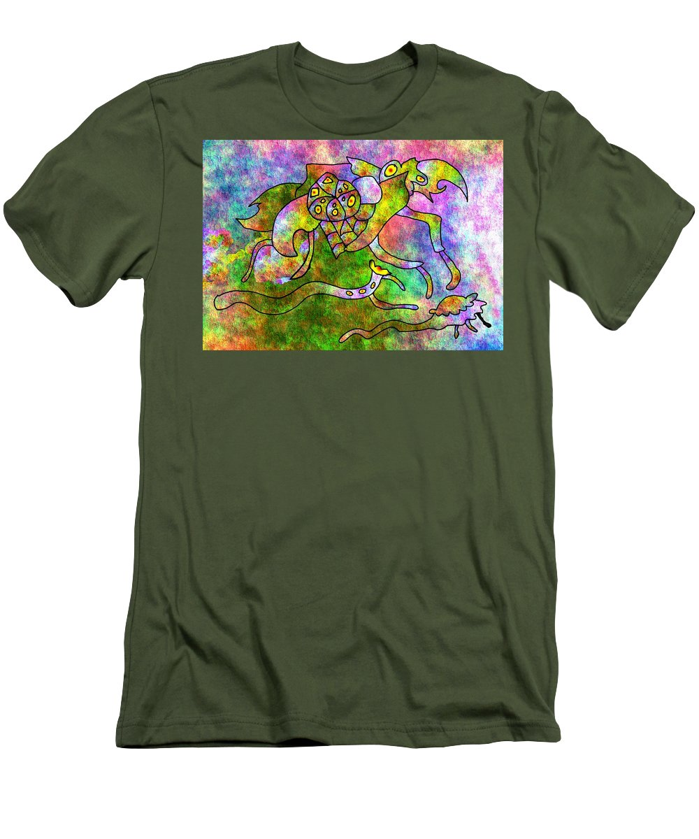 Bugs Color Texture Abstract Fun Men's T-Shirt (Athletic Fit) featuring the digital art The Bugs by Veronica Jackson