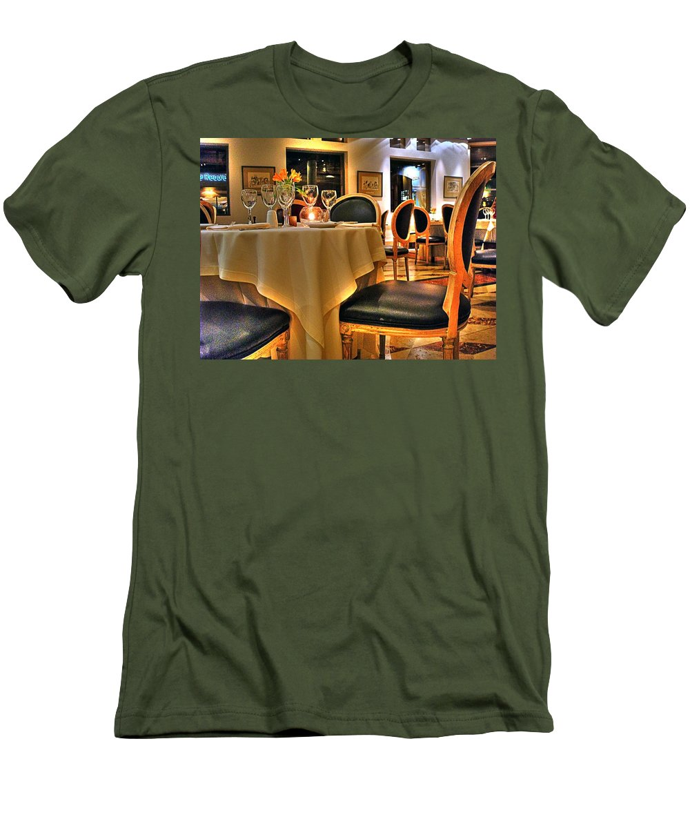 Chair Men's T-Shirt (Athletic Fit) featuring the photograph The Empty Chair by Francisco Colon