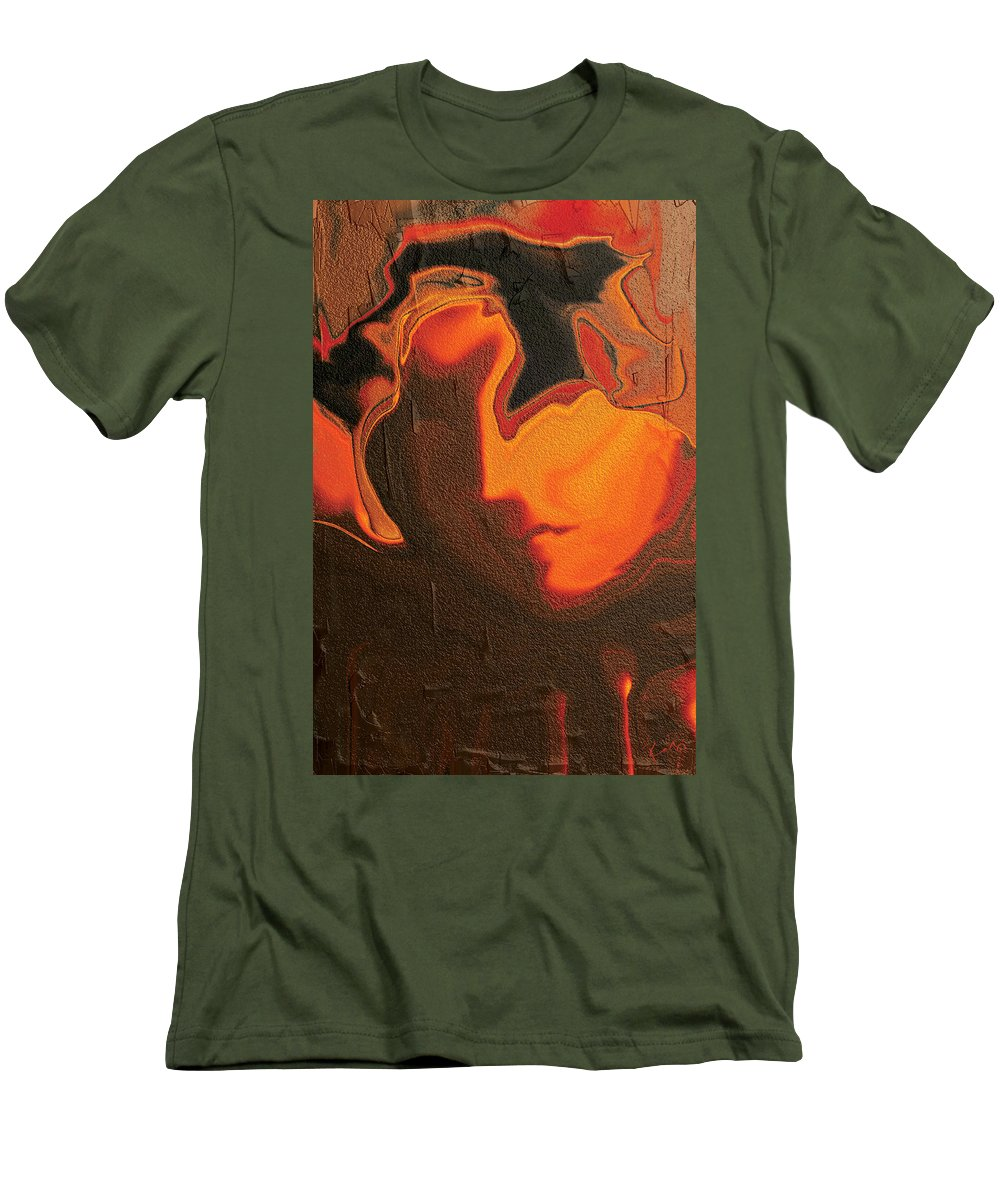 Abstract Men's T-Shirt (Athletic Fit) featuring the digital art The Face 2 by Rabi Khan
