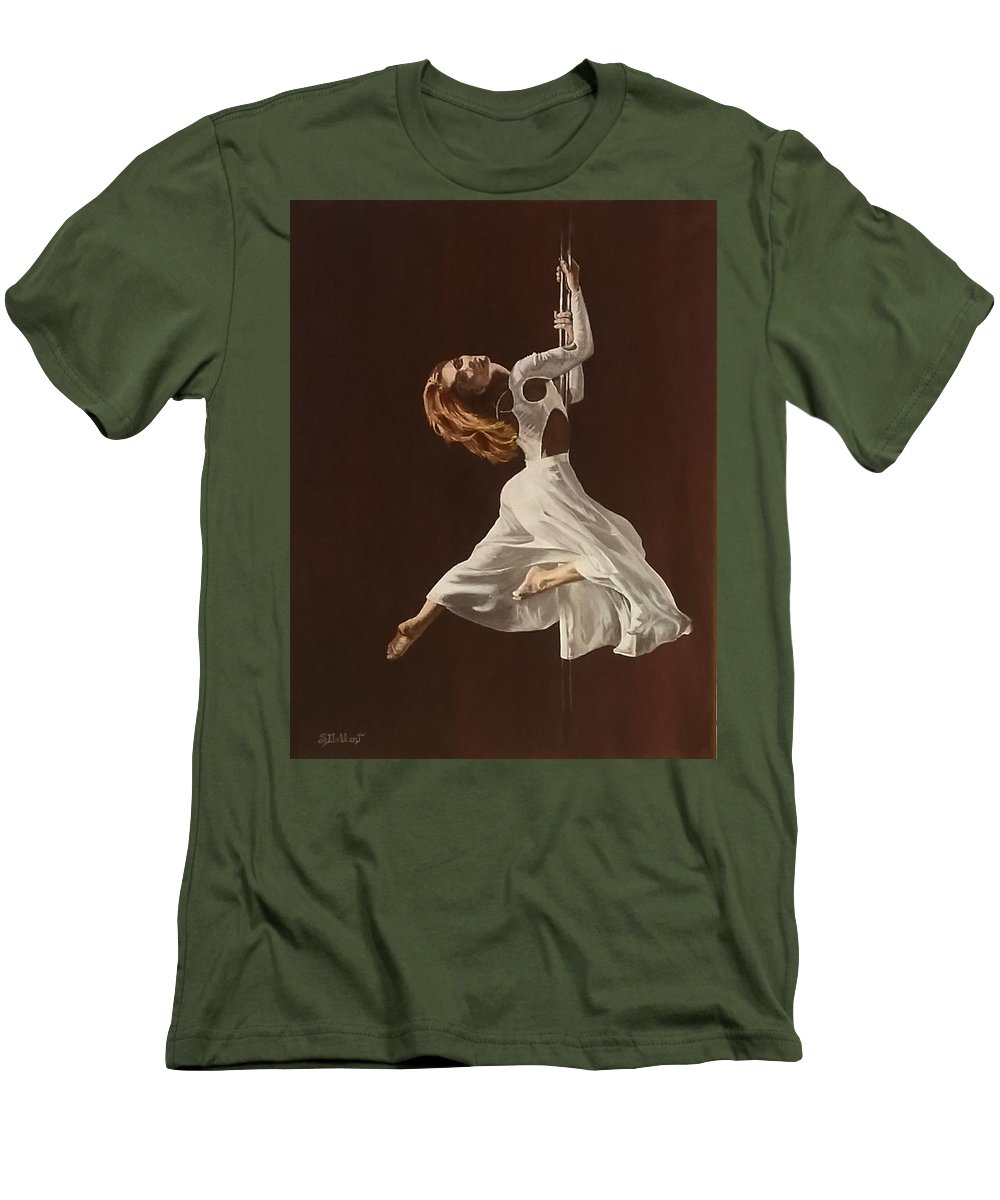 Painting Men's T-Shirt (Athletic Fit) featuring the painting The Performance by Sheryl Gallant