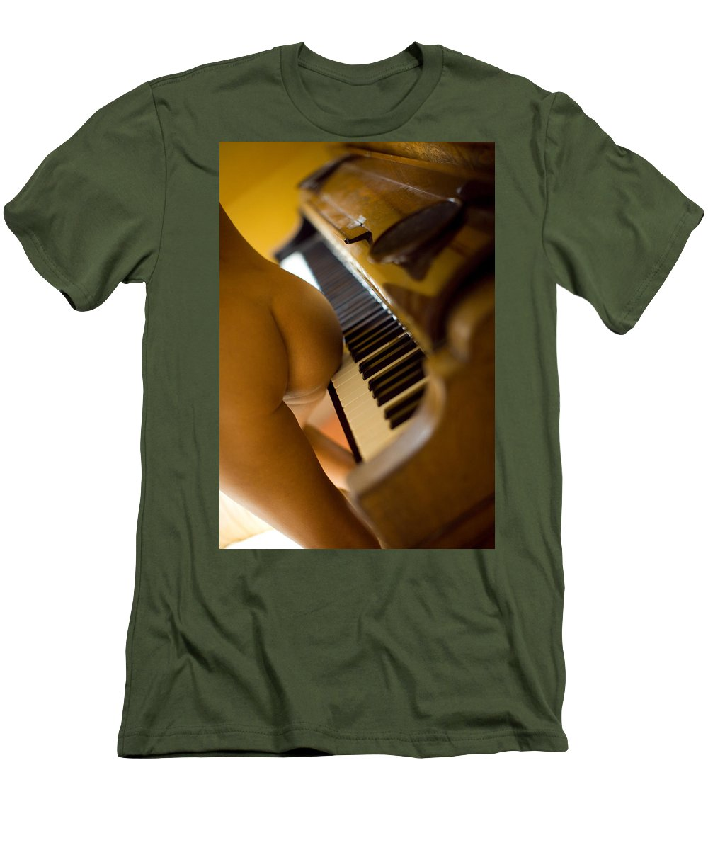 Sensual Men's T-Shirt (Athletic Fit) featuring the photograph The Piano by Olivier De Rycke