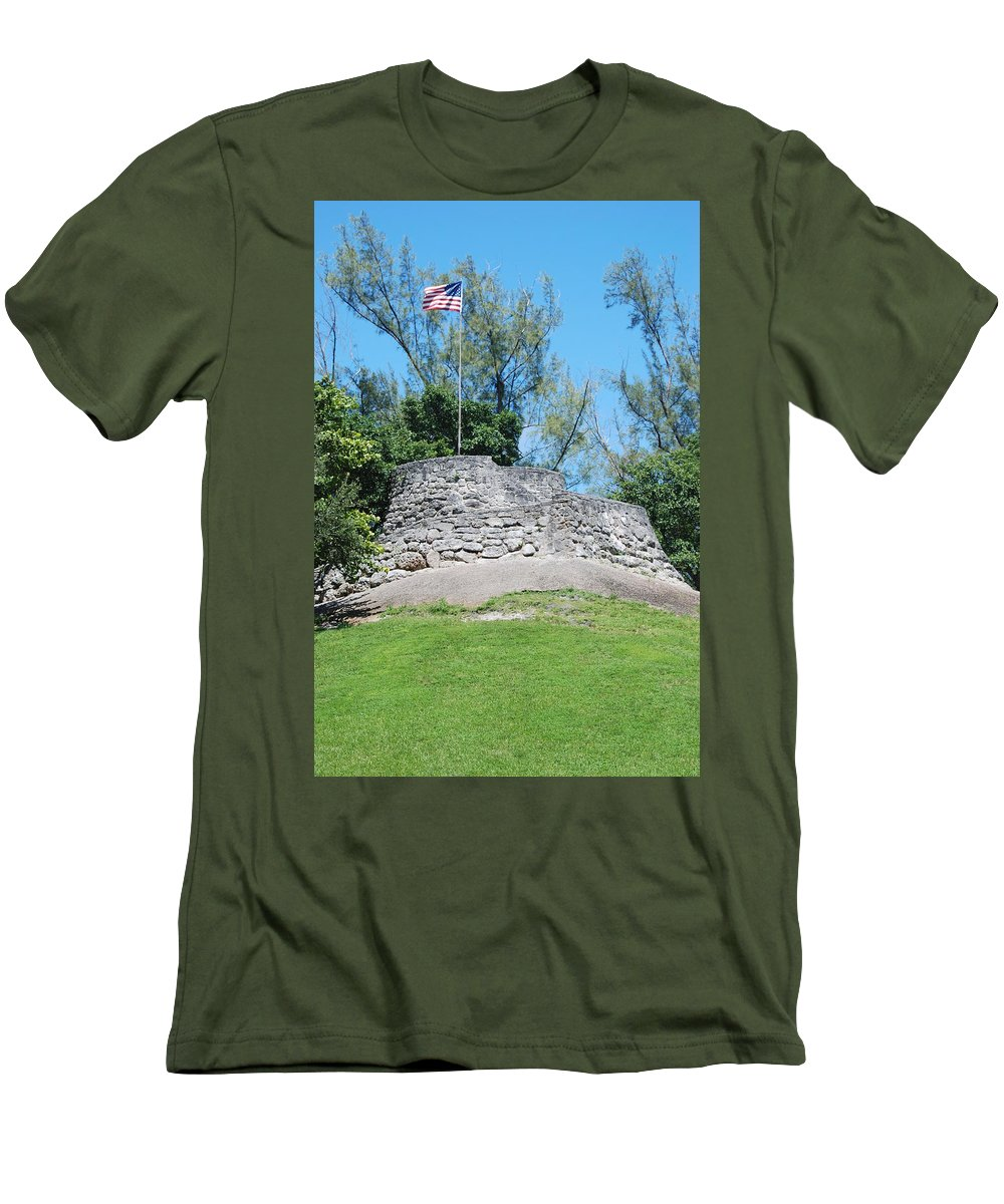 American Flag Men's T-Shirt (Athletic Fit) featuring the photograph The Stand by Rob Hans