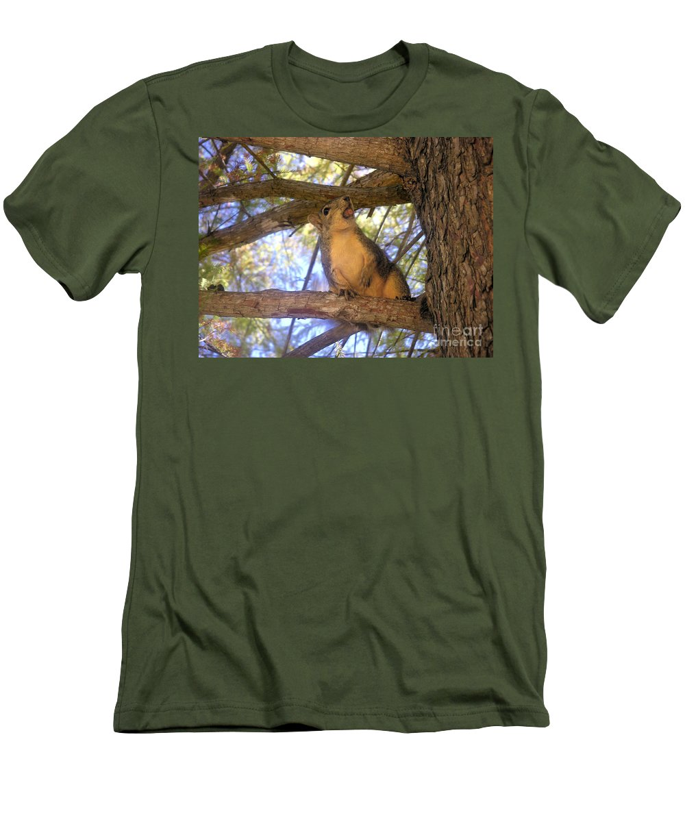Nature Men's T-Shirt (Athletic Fit) featuring the photograph The Winner by Lucyna A M Green