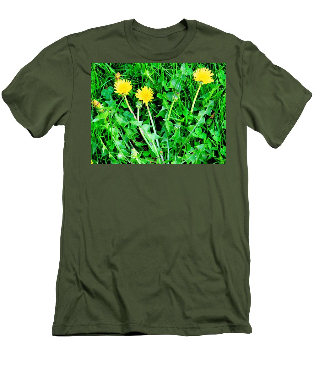 Dandylions Men's T-Shirt (Athletic Fit) featuring the photograph Three Tenders by Ian MacDonald
