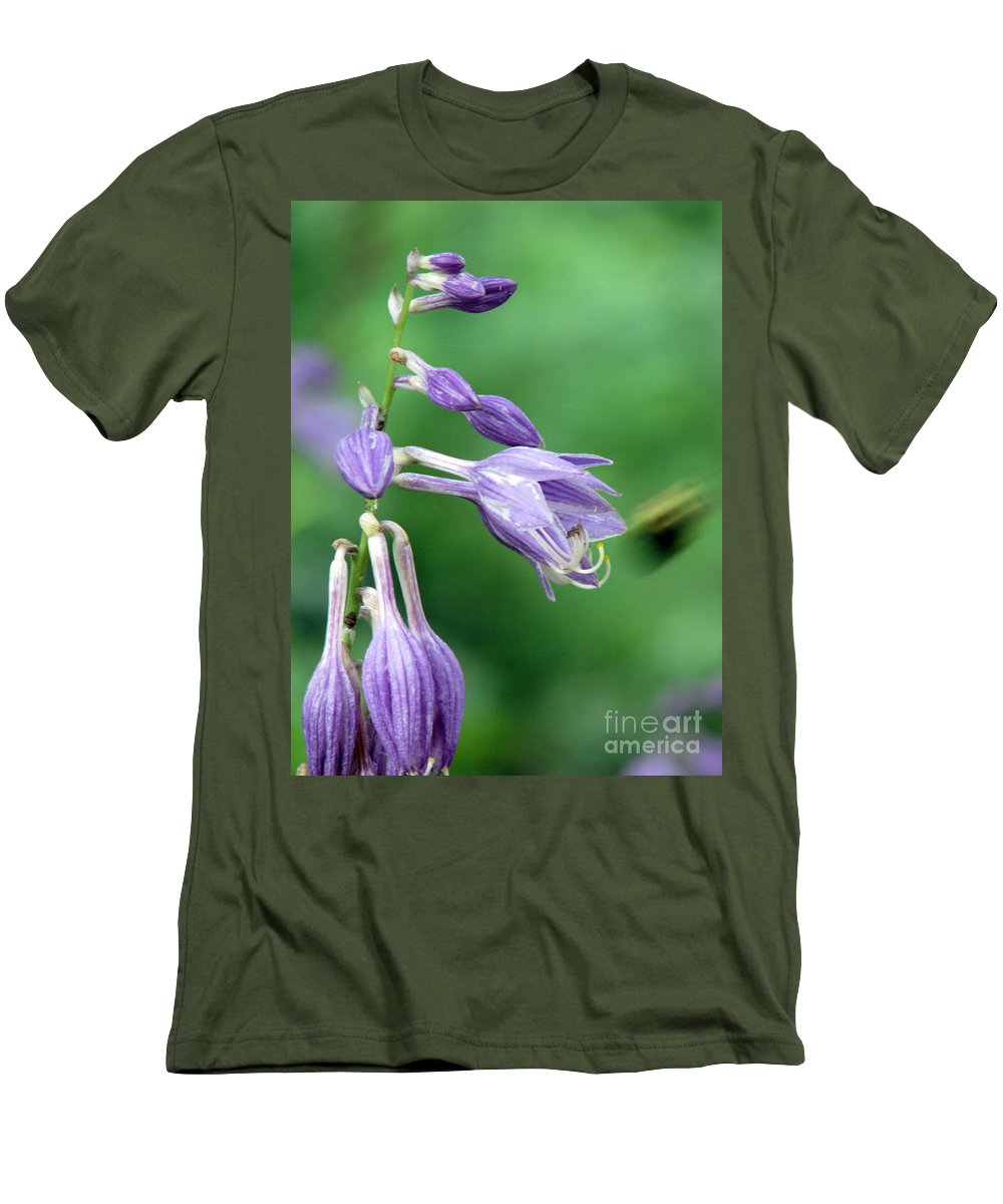 Bees Men's T-Shirt (Athletic Fit) featuring the photograph Too Busy To Notice by Amanda Barcon