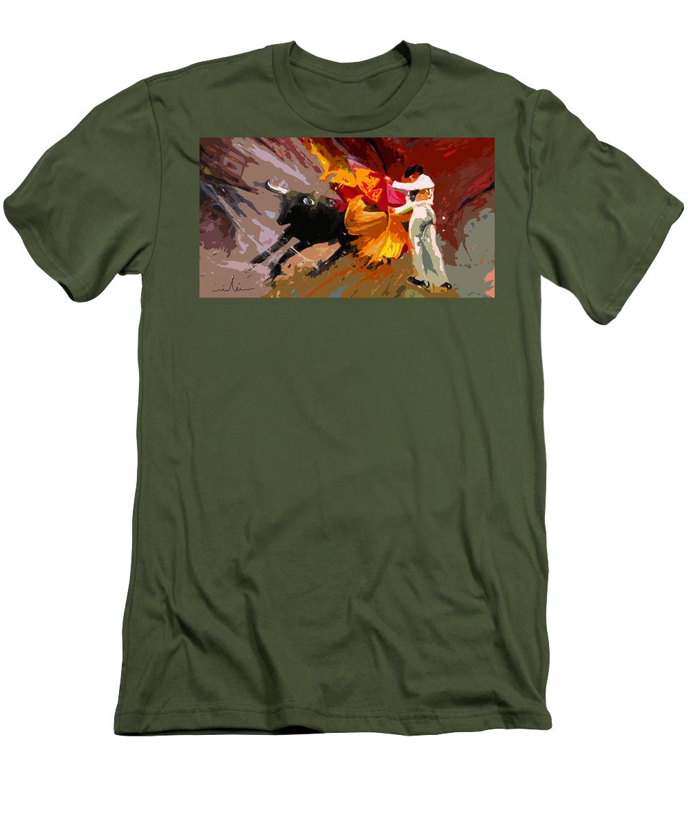 Animals Men's T-Shirt (Athletic Fit) featuring the painting Toroscape 04 by Miki De Goodaboom