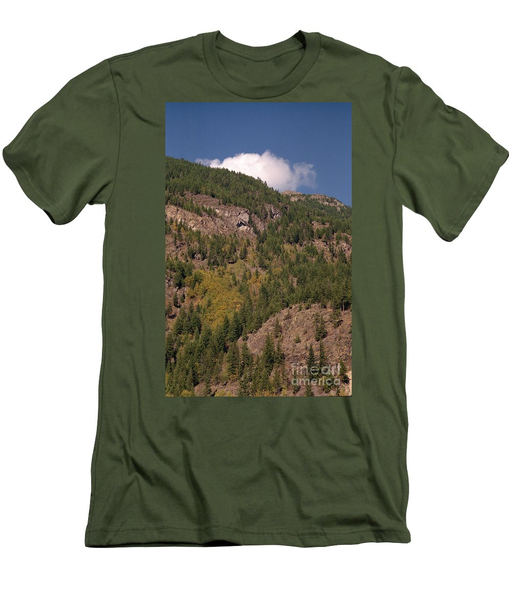 Mountains Men's T-Shirt (Athletic Fit) featuring the photograph Touching The Clouds by Richard Rizzo