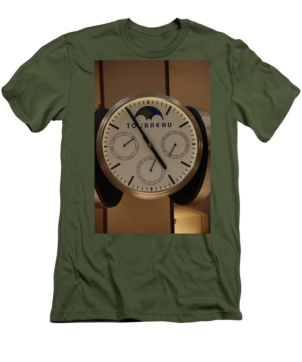 Clock Men's T-Shirt (Athletic Fit) featuring the photograph Tourneau by Rob Hans