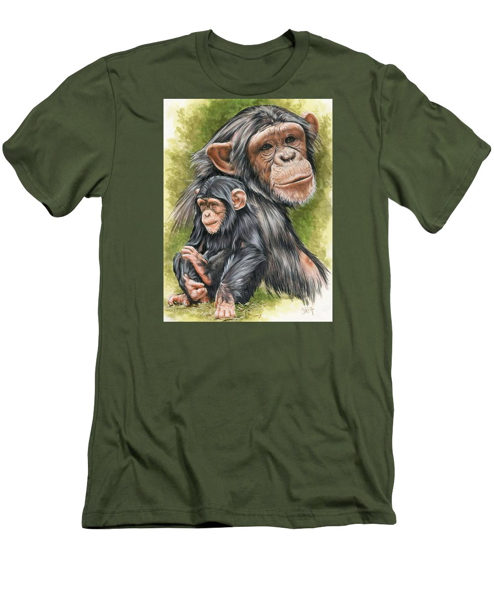 Chimpanzee Men's T-Shirt (Athletic Fit) featuring the mixed media Treasure by Barbara Keith