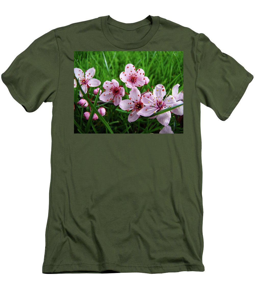 �blossoms Artwork� Men's T-Shirt (Athletic Fit) featuring the photograph Tree Blossoms 4 Spring Flowers Art Prints Giclee Flower Blossoms by Baslee Troutman