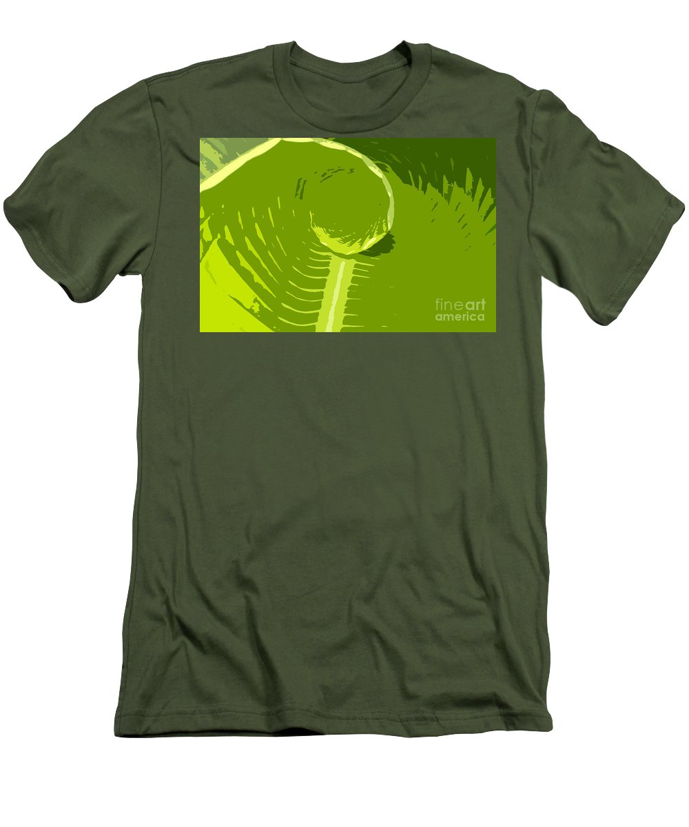 Green Men's T-Shirt (Athletic Fit) featuring the digital art Tropical Green by David Lee Thompson