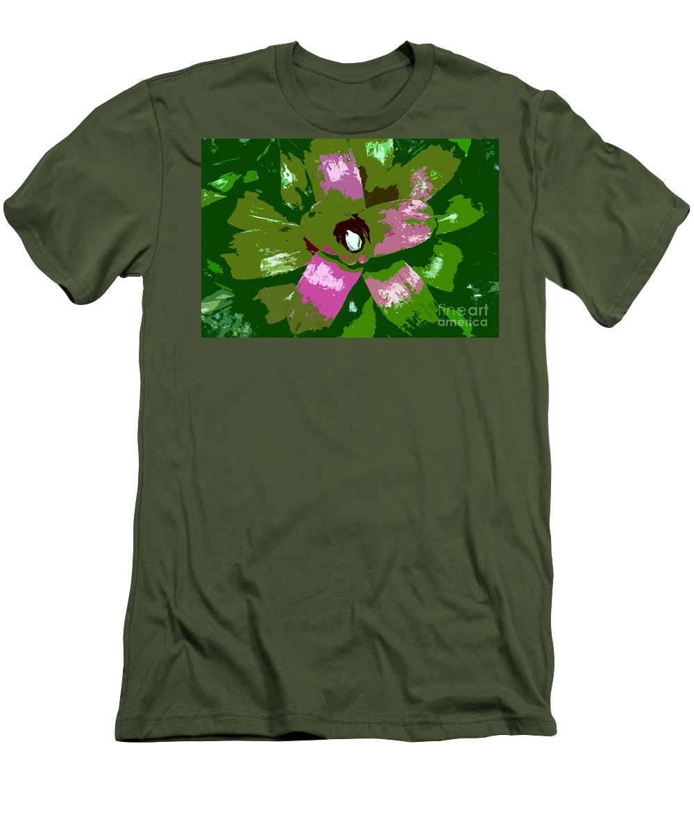 Tropical Men's T-Shirt (Athletic Fit) featuring the photograph Tropical Plant Work Number 5 by David Lee Thompson