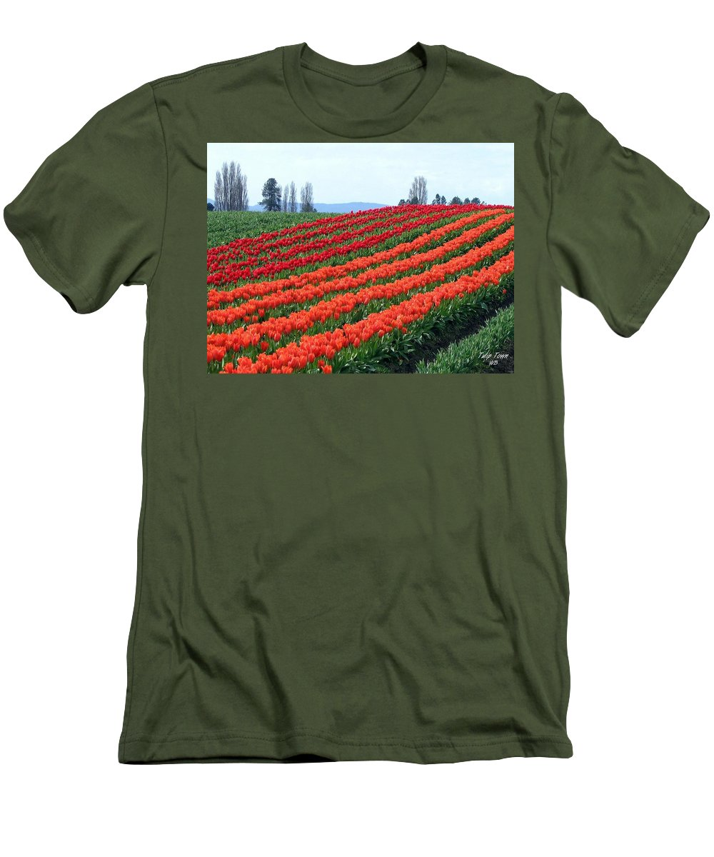 Agriculture Men's T-Shirt (Athletic Fit) featuring the photograph Tulip Town 18 by Will Borden