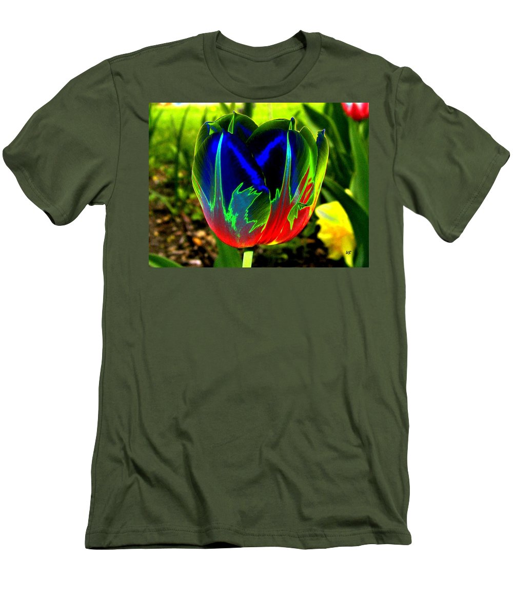 Resplendent Men's T-Shirt (Athletic Fit) featuring the digital art Tulipshow by Will Borden
