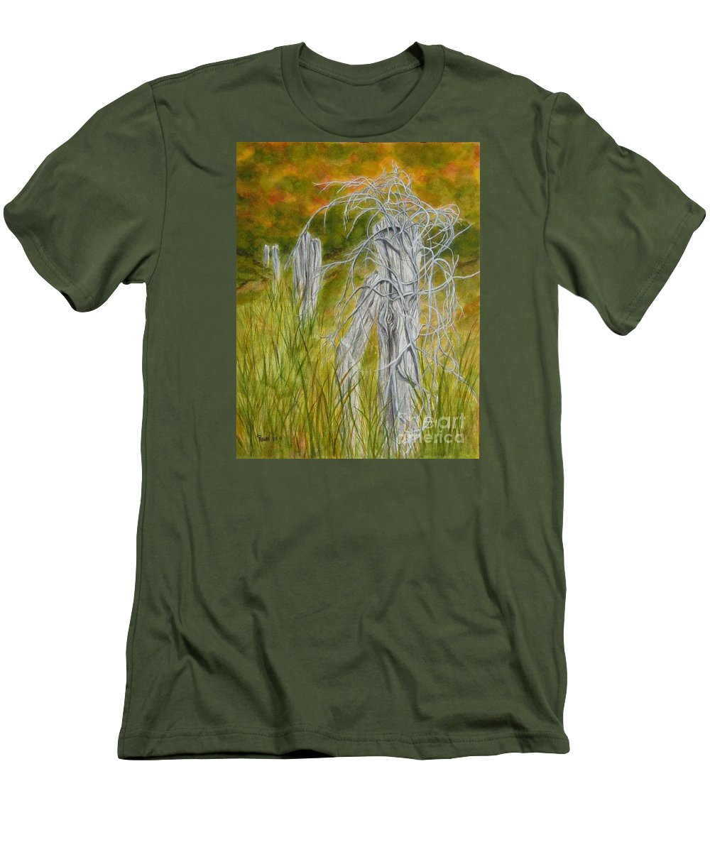 Landscape Men's T-Shirt (Athletic Fit) featuring the painting Twisted by Regan J Smith