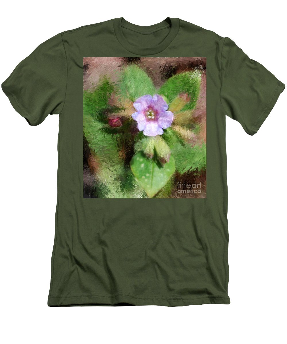 Digital Photo Men's T-Shirt (Athletic Fit) featuring the photograph Untitled Floral -1 by David Lane
