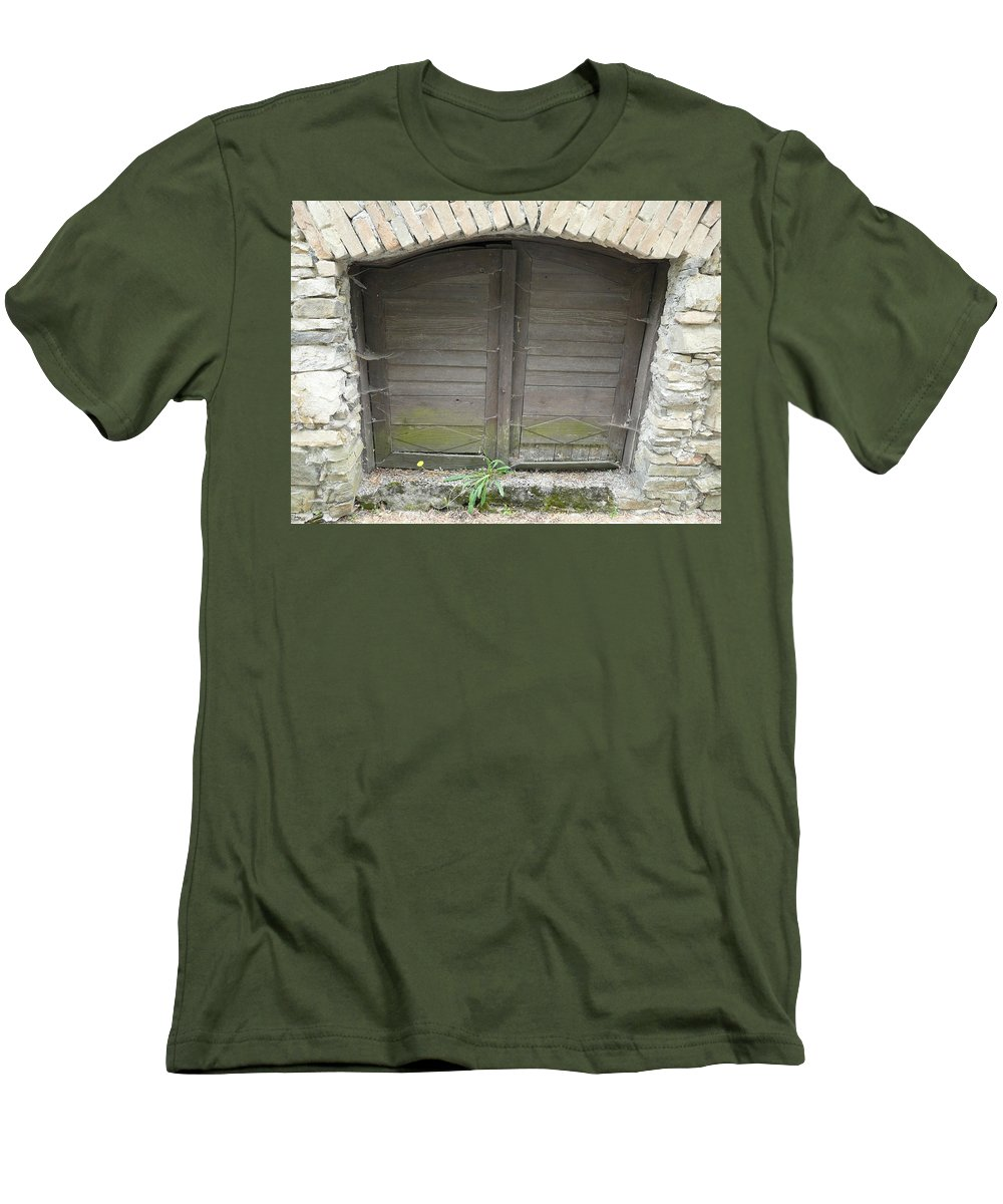 Old Men's T-Shirt (Athletic Fit) featuring the photograph Unused Door by Valerie Ornstein