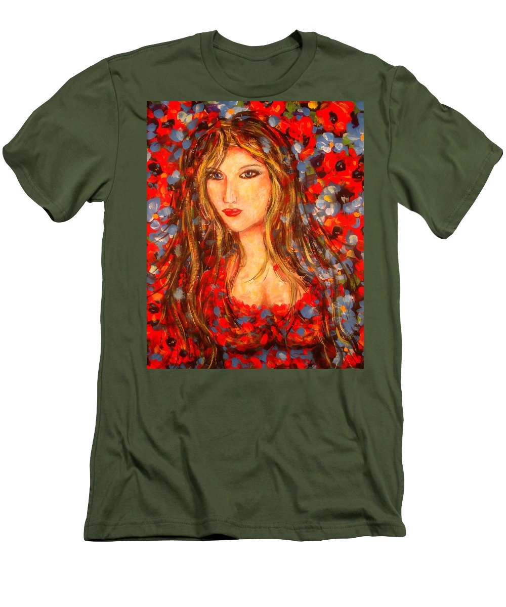 Portrait Men's T-Shirt (Athletic Fit) featuring the painting Valentina by Natalie Holland