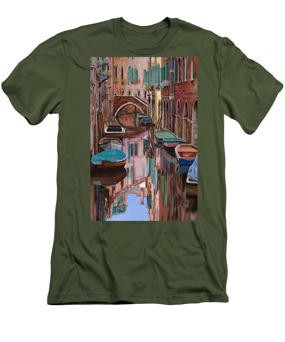 Venice Men's T-Shirt (Athletic Fit) featuring the painting Venezia A Colori by Guido Borelli