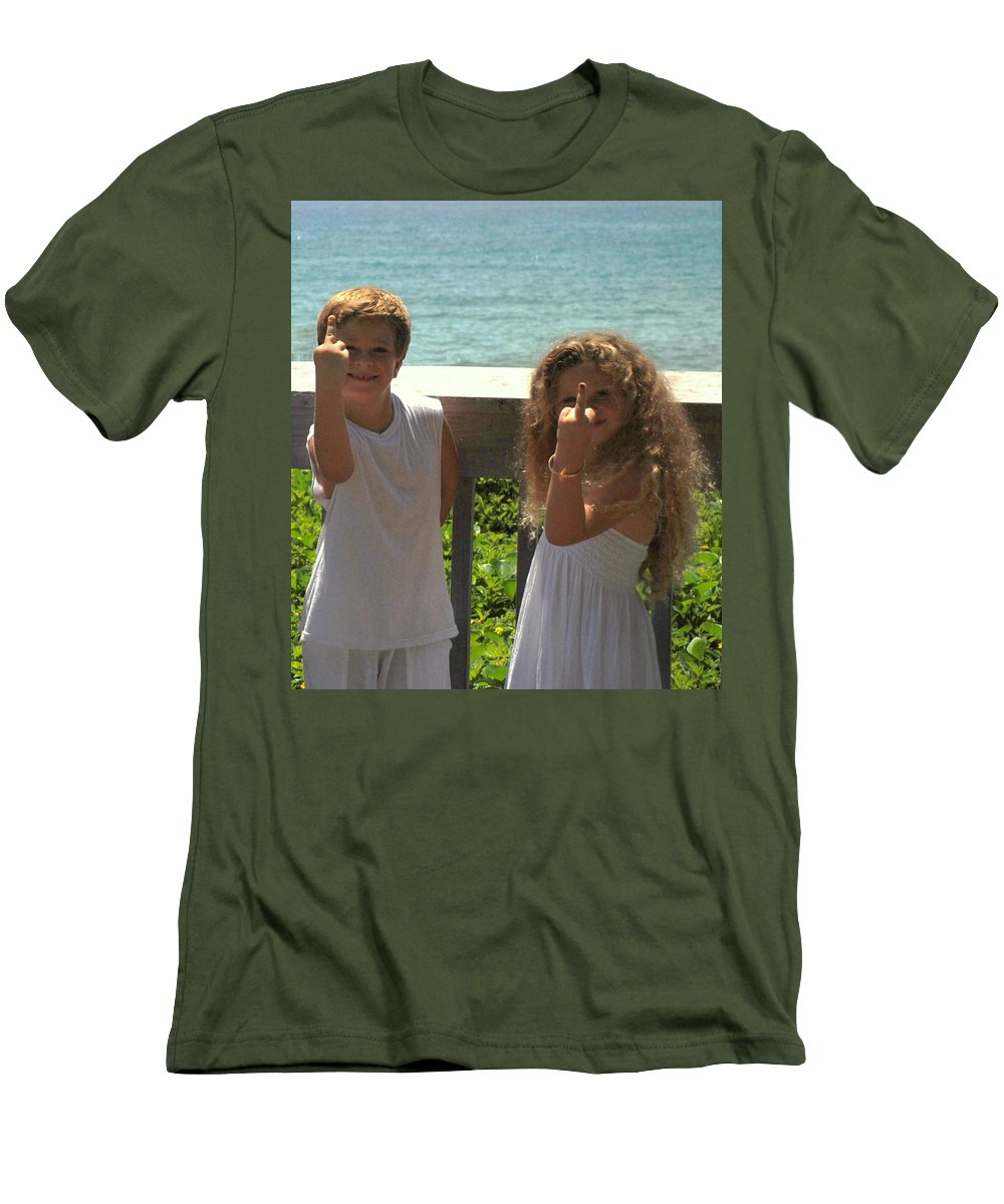 Kids Men's T-Shirt (Athletic Fit) featuring the photograph Very Naughty Angels by Rob Hans