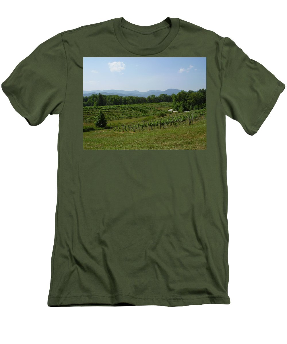 Vineyard Men's T-Shirt (Athletic Fit) featuring the photograph Vineyard by Flavia Westerwelle