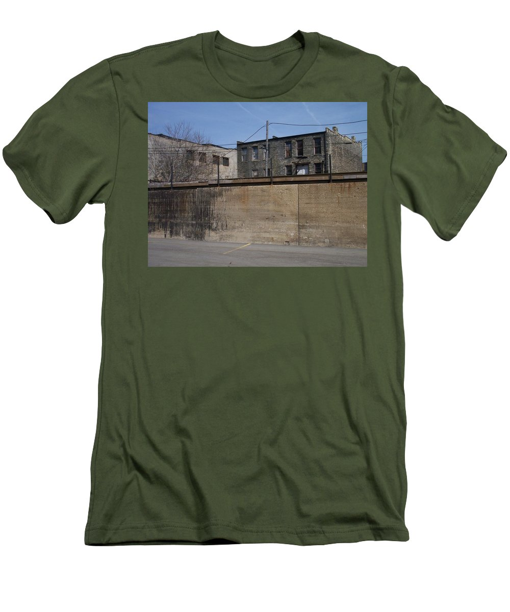 Walker's Point Men's T-Shirt (Athletic Fit) featuring the photograph Walker's Point 1 by Anita Burgermeister