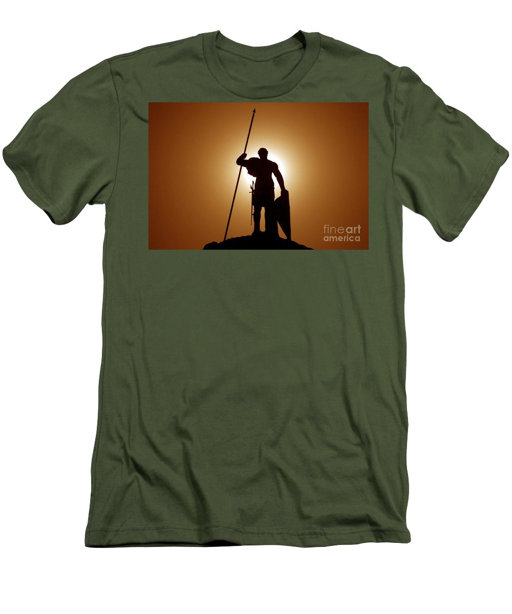Warrior Men's T-Shirt (Athletic Fit) featuring the photograph Warrior by David Lee Thompson