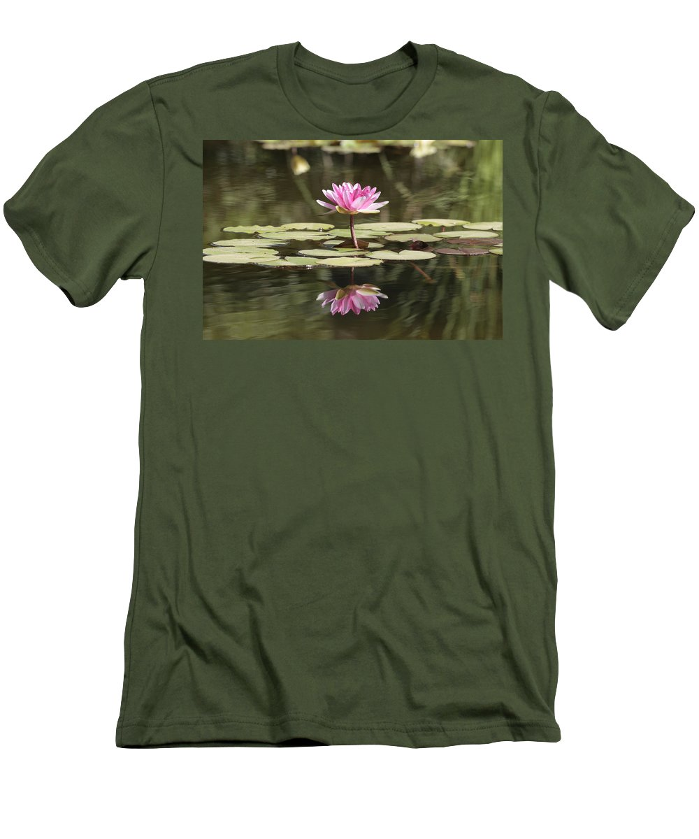 Lily Men's T-Shirt (Athletic Fit) featuring the photograph Water Lily by Phil Crean