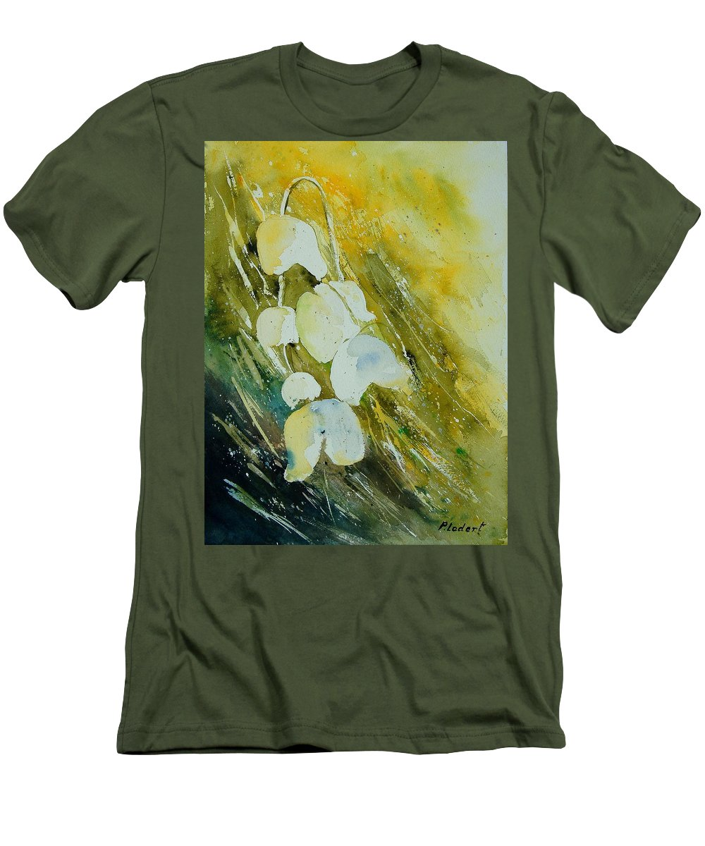 Flowers Men's T-Shirt (Athletic Fit) featuring the painting Watercolor 220508 by Pol Ledent