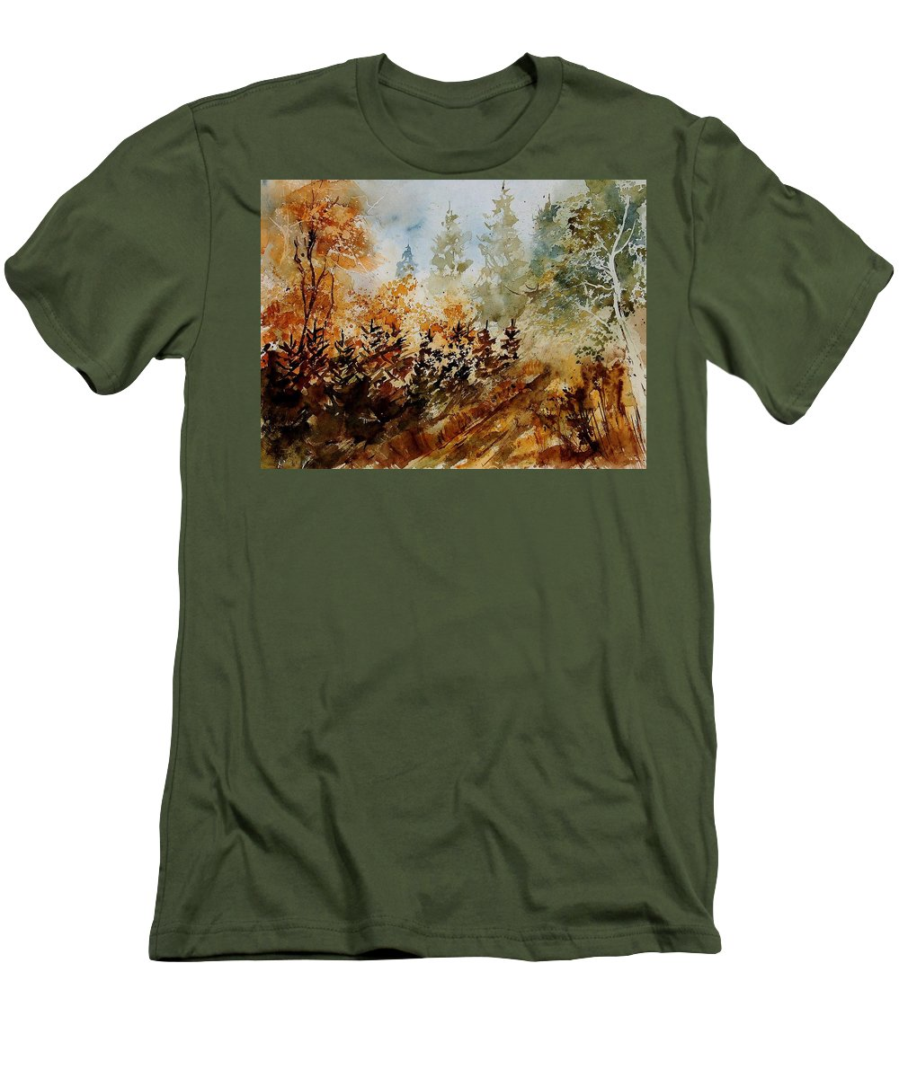 Tree Men's T-Shirt (Athletic Fit) featuring the painting Watercolor 250607 by Pol Ledent