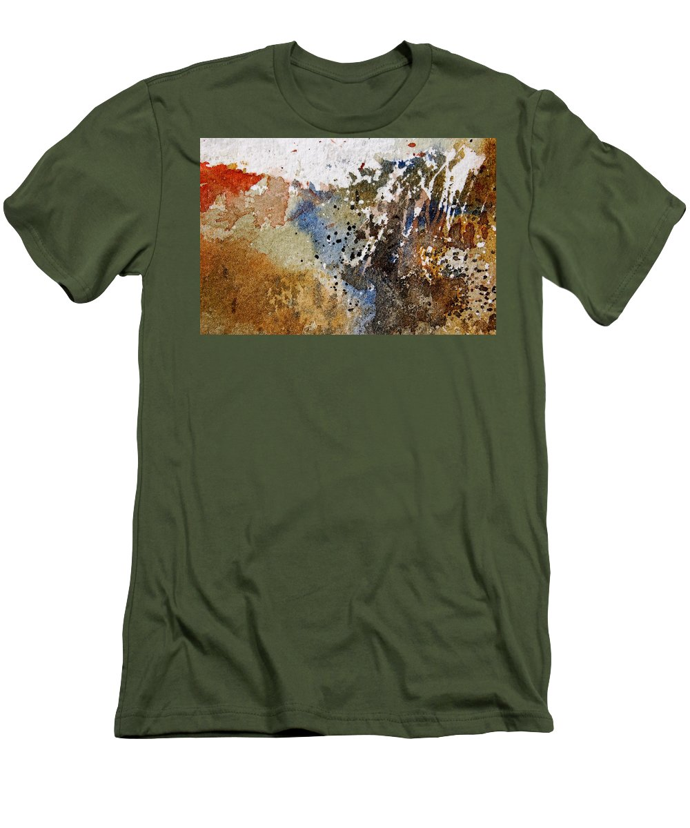 Abstract Men's T-Shirt (Athletic Fit) featuring the painting Watercolor 9050223 by Pol Ledent