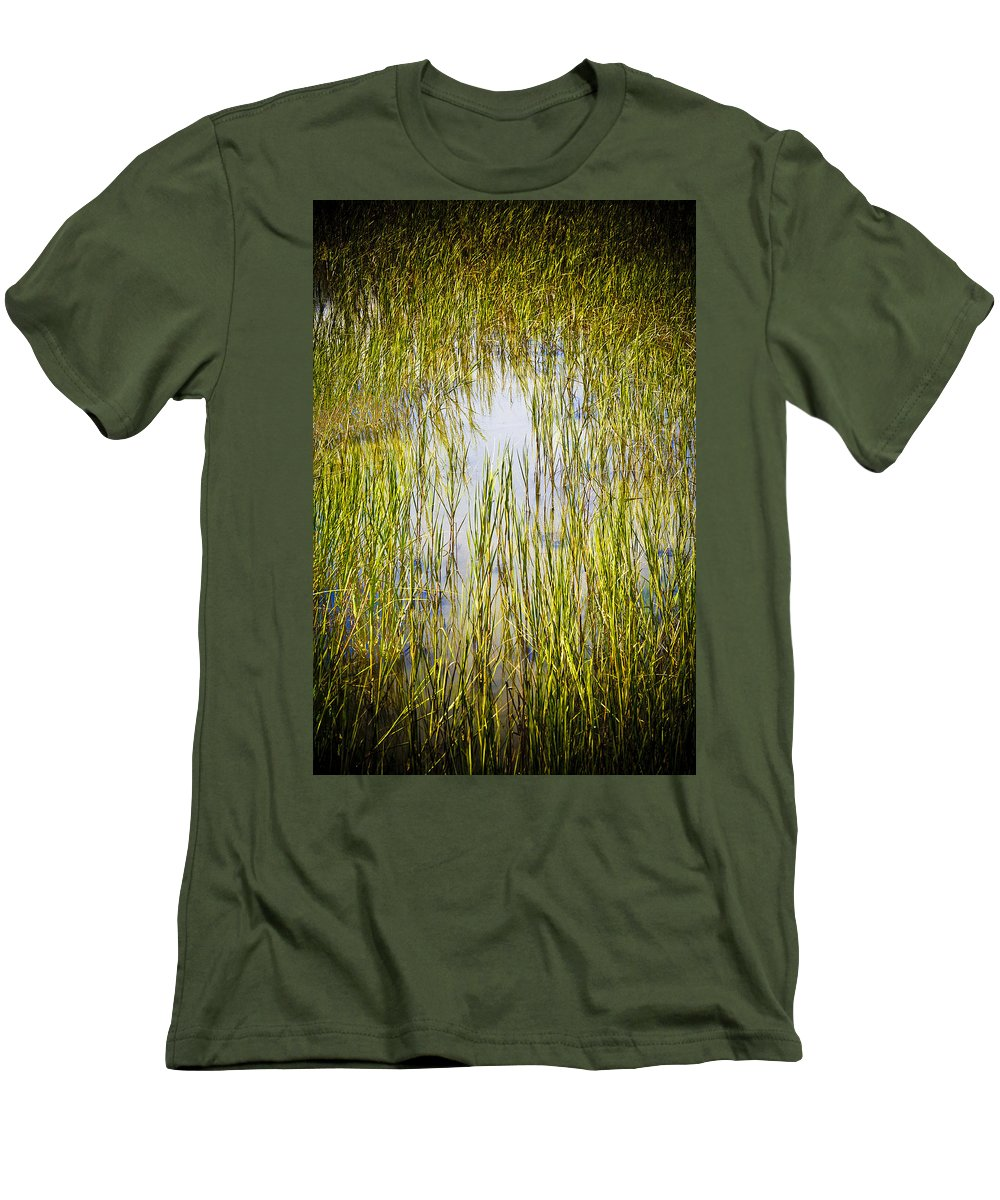 Wetlands Men's T-Shirt (Athletic Fit) featuring the photograph Wetlands by Marilyn Hunt