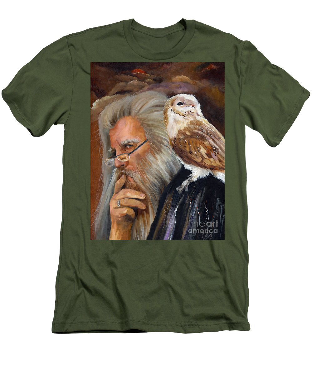 Wizard Men's T-Shirt (Athletic Fit) featuring the painting What If... by J W Baker