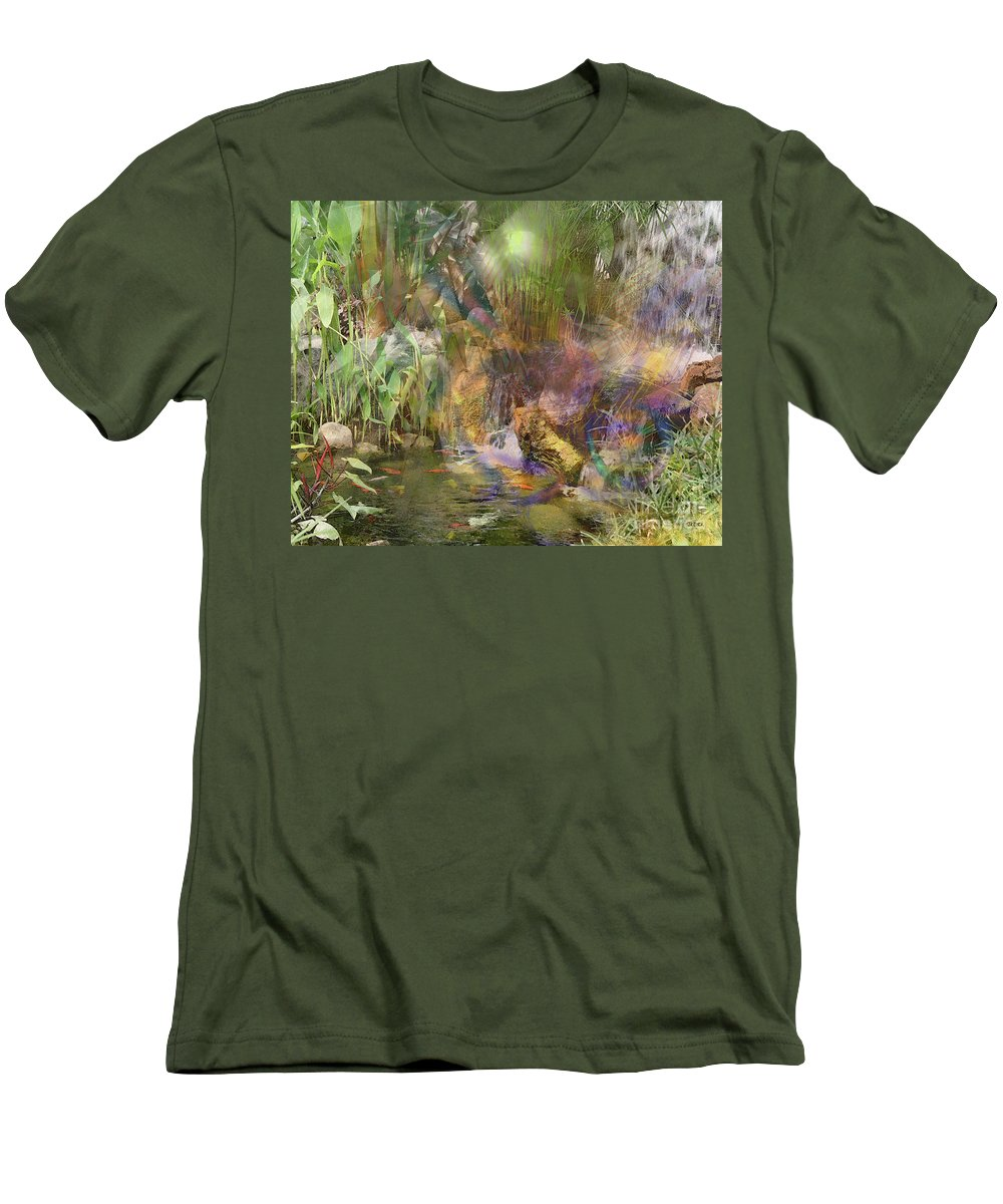 Whispering Waters Men's T-Shirt (Athletic Fit) featuring the digital art Whispering Waters by John Beck