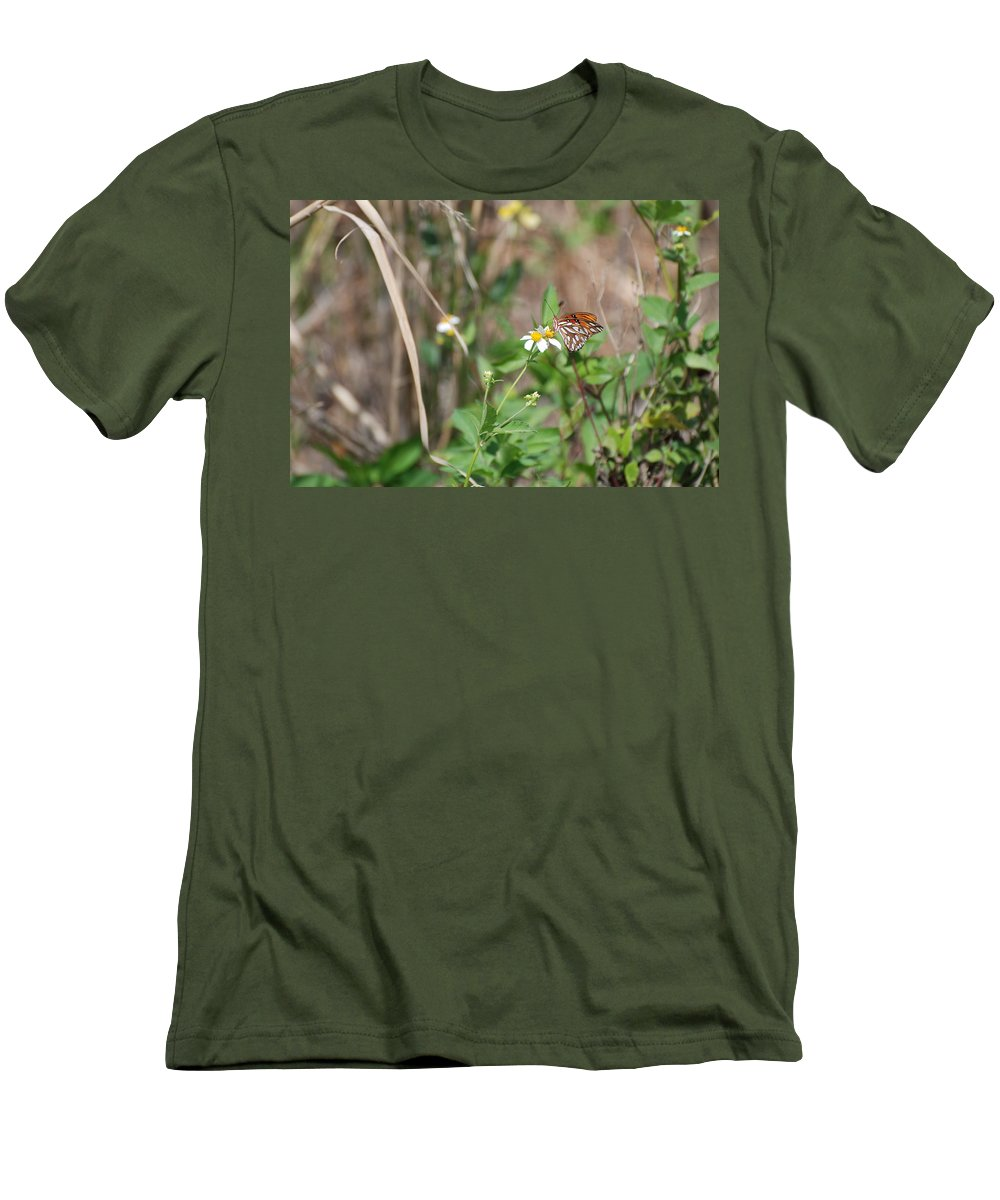 Butterfly Men's T-Shirt (Athletic Fit) featuring the photograph White Butterfly by Rob Hans