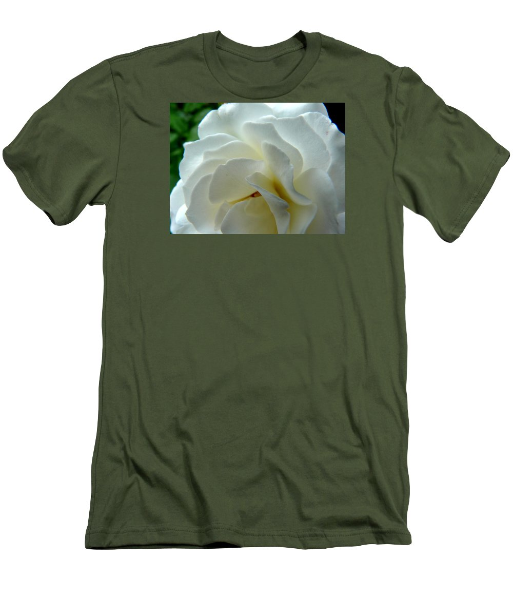 Rose Men's T-Shirt (Athletic Fit) featuring the photograph White Petals by Valerie Ornstein