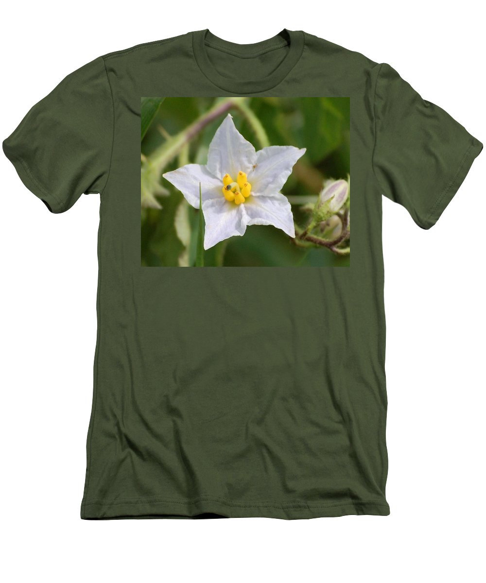 Digital Photo Men's T-Shirt (Athletic Fit) featuring the photograph White Star by David Lane
