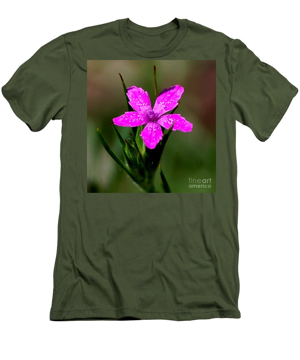 Digital Photo Men's T-Shirt (Athletic Fit) featuring the photograph Wild Pink by David Lane