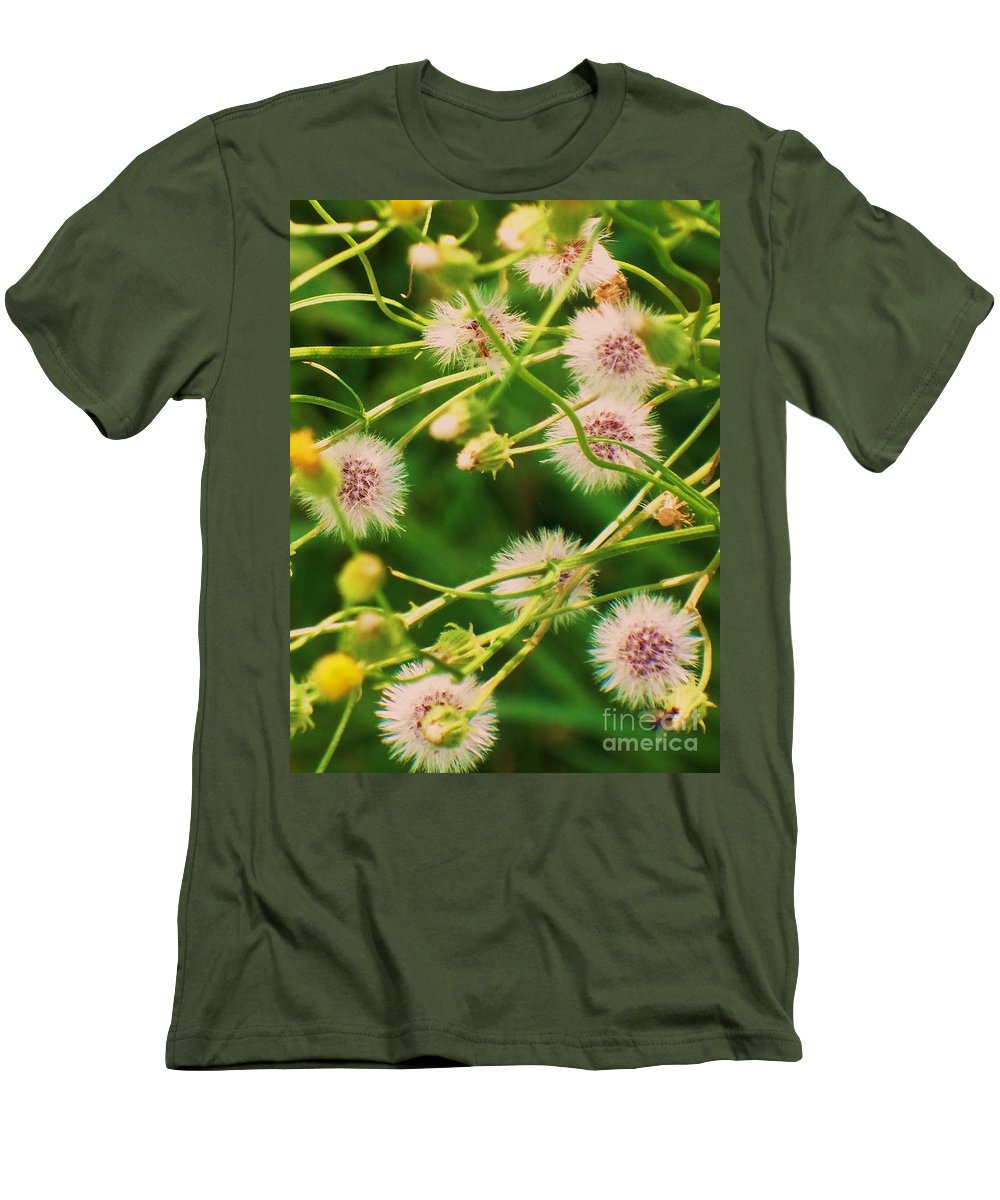 Flowers Men's T-Shirt (Athletic Fit) featuring the painting Wildflower by Eric Schiabor