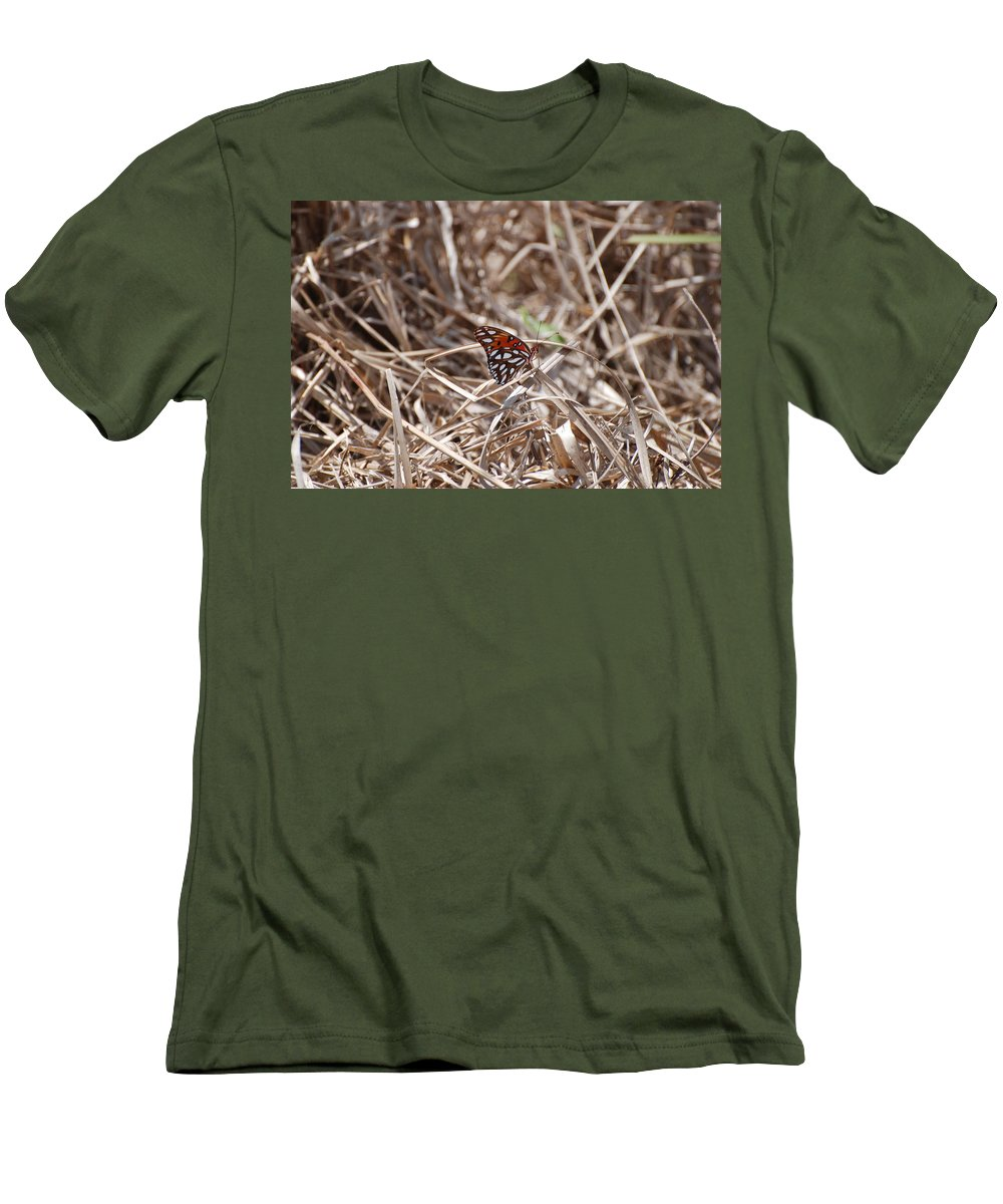 Butterfly Men's T-Shirt (Athletic Fit) featuring the photograph Wooden Butterfly by Rob Hans
