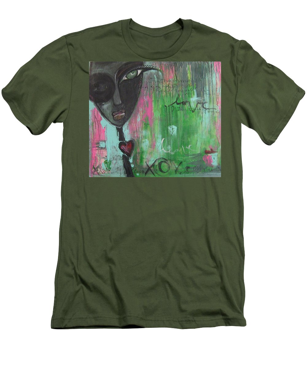 Figurative Men's T-Shirt (Athletic Fit) featuring the painting You Cant Ask For More by Laurie Maves ART