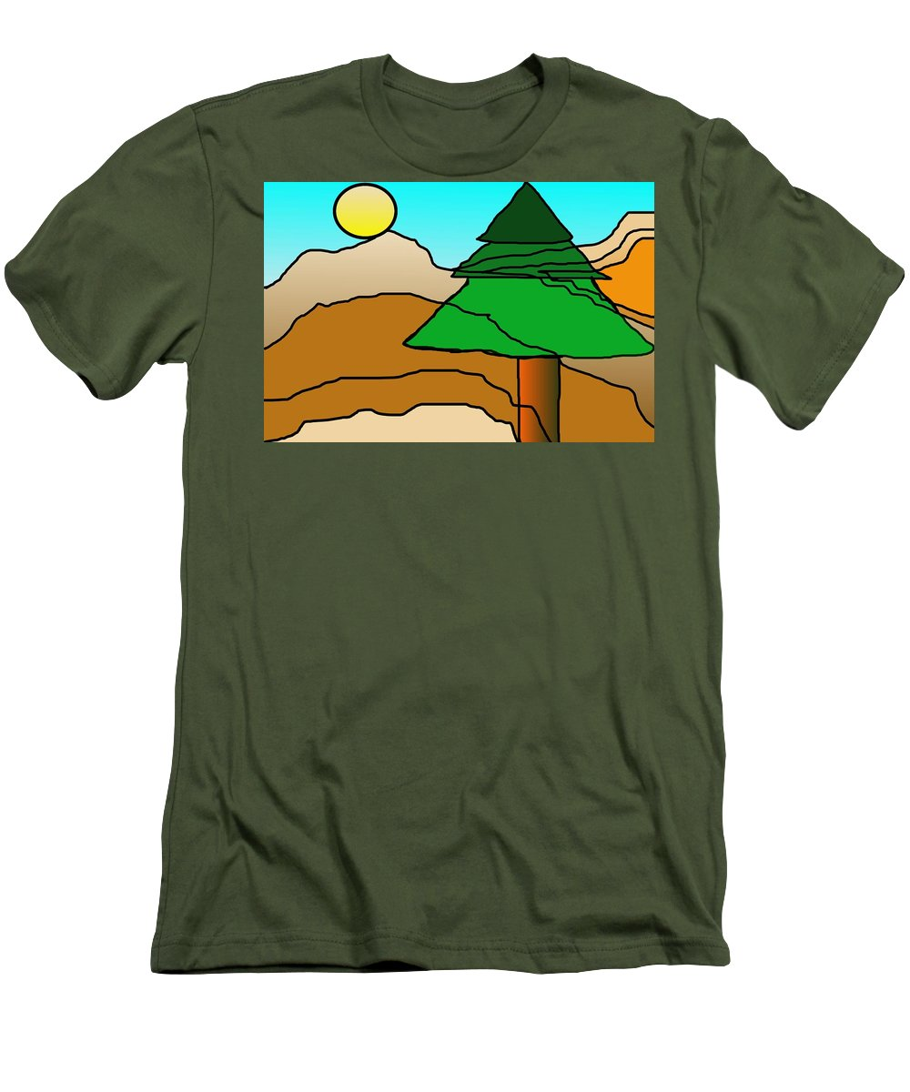 Digital Art Men's T-Shirt (Athletic Fit) featuring the digital art You Dared Me by David Lane