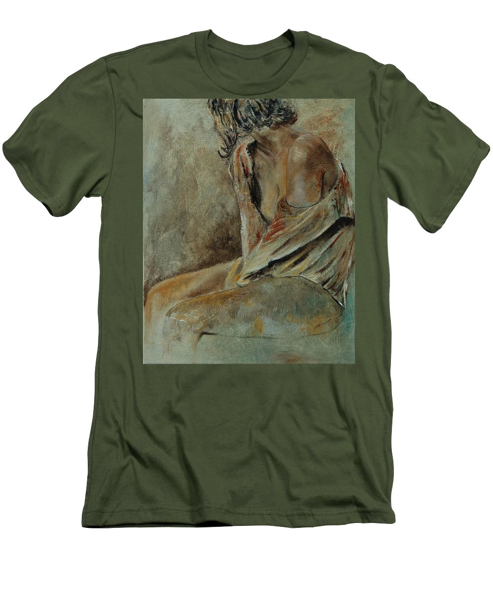Gir Men's T-Shirt (Athletic Fit) featuring the painting Young Girl 45905040 by Pol Ledent